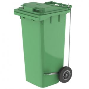 мусорный контейнер с педалью 120 литров
