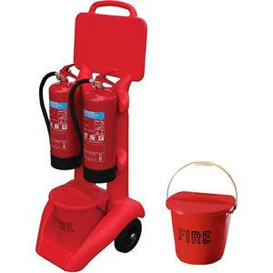 мобильный пожарный пост для двух огнетушителей
