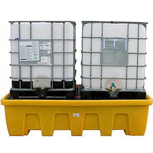 Поддон-контейнер для двух IBC кубов с решеткой (штабелируемый)