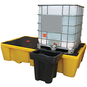 Низкий диспенсер, модульный, c функцией перелива для IBC поддона-контейнера на два куба