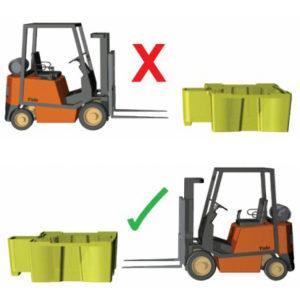 погрузка и транспортировка поддона-контейнера