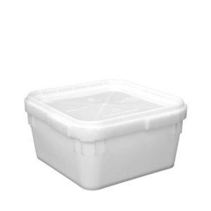 Куботейнер полиэтиленовый с крышкой 340 x 340 x 160, объем 12 литров