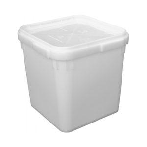 Куботейнер полиэтиленовый с крышкой 340 x 340 x 320, объем 23 литра
