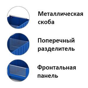 Комплектующие для полочных контейнеров