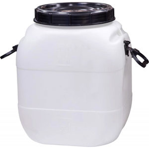 Бочка-бидон п/э 50 литров квадратный белый