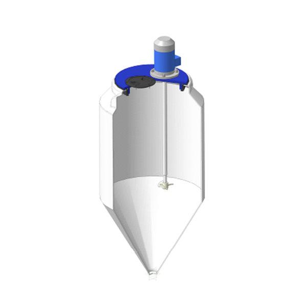 Ёмкость ФМ 120 литров в обрешетке c пропеллерной мешалкой