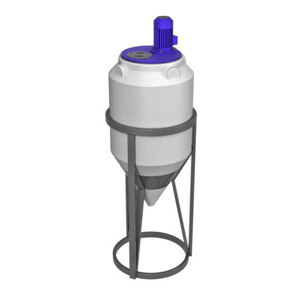 Ёмкость ФМ 120 литров в обрешетке с турбинной мешалкой
