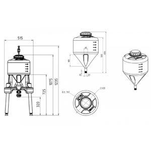Ёмкость ЦКТ 35литров с подставкой (комплектация премиум)