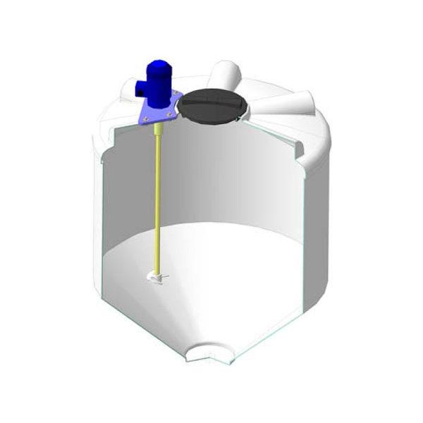 Ёмкость ФМ 1000 литров c пропеллерной мешалкой