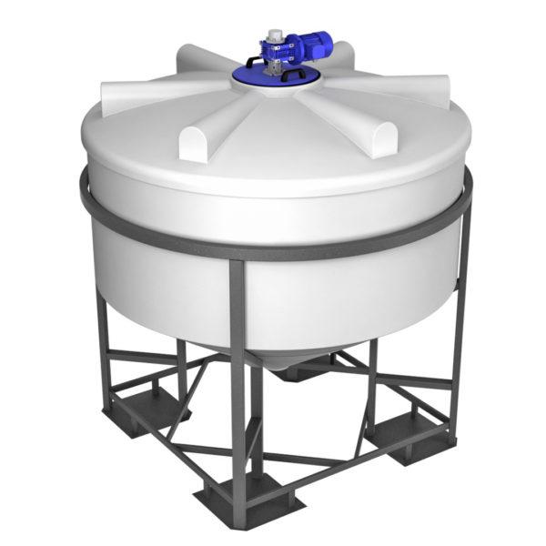 Ёмкость ФМ 3000 литров в обрешетке с лопастной мешалкой