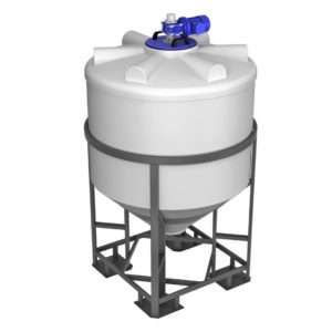 Ёмкость ФМ 1000 литров в обрешетке с лопастной мешалкой