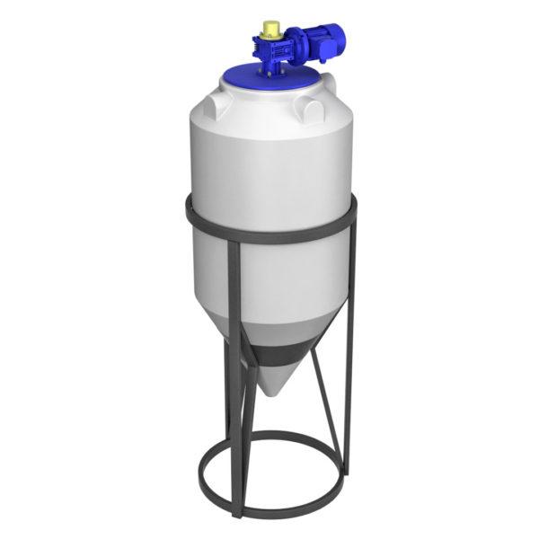 Ёмкость ФМ 240 литров в обрешетке с пищевой лопастной мешалкой