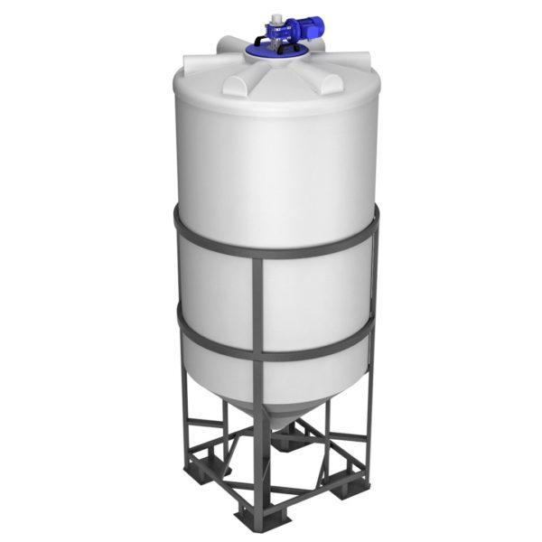 Ёмкость ФМ 2000 литров в обрешетке с лопастной мешалкой